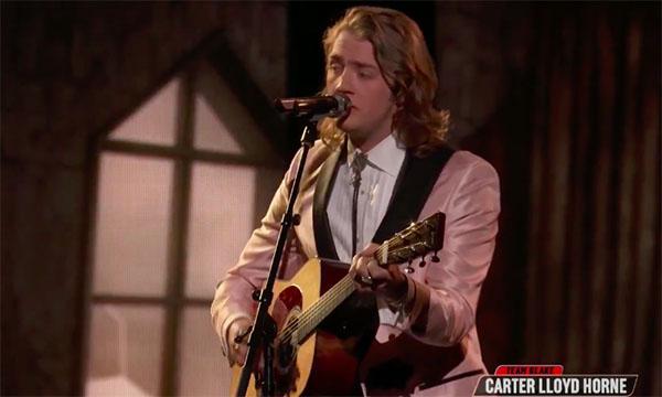 "Carter Lloyd Horne ""Let It Go"" The Voice Top 13 Live Shows"