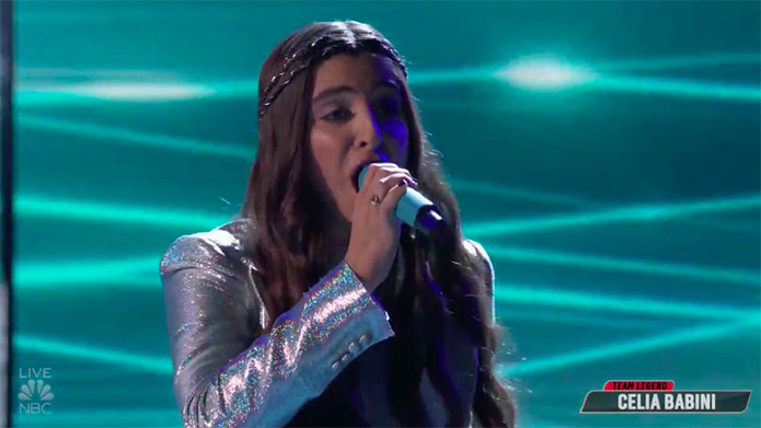 "Celia Babini sings ""Shallow"" on The Voice Top 13 Live Shows"