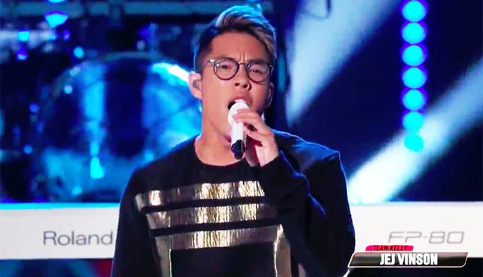 "Jej Vinson sings ""Close"" on The Voice Top 13 Live Shows"
