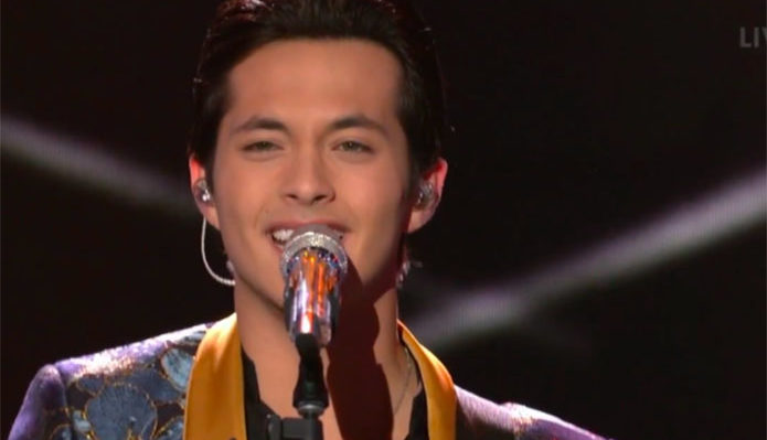 "Laine Hardy sings ""I Don't Need No Doctor"" on American Idol Top 6"