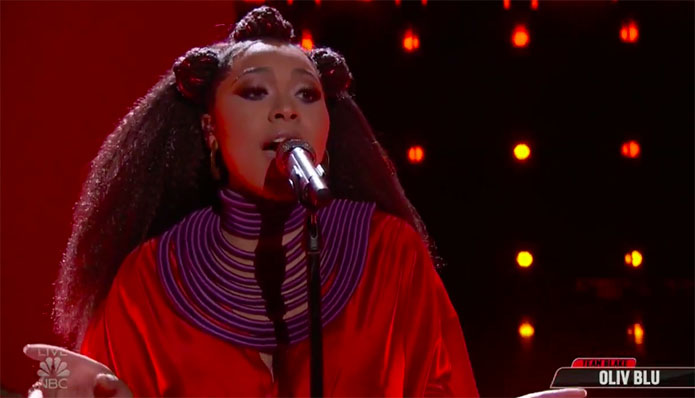 "Oliv Blue sings ""Smooth Operator"" on The Voice Top 13 Live Shows"