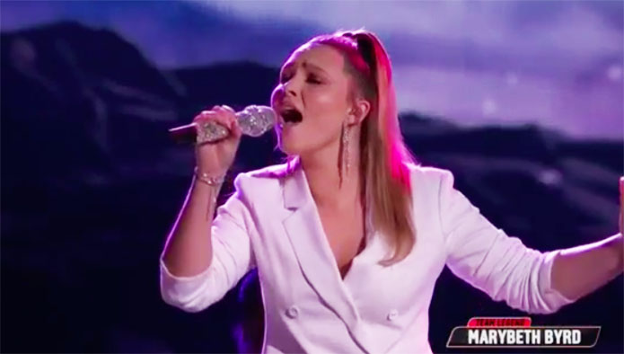 "Marybeth Byrd sings ""Stars"" on The Voice Top 11 Live Shows"