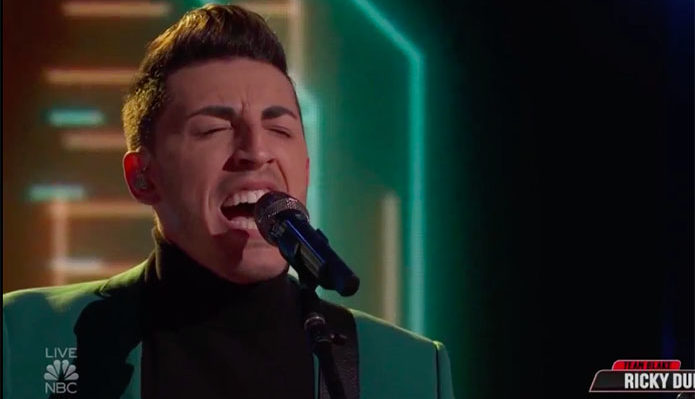 "Ricky Duran ""You Are the Best Thing"" The Voice Top 13 Live Shows"
