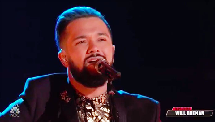 "Will Breman ""Light My Fire"" The Voice Top 11 Live Shows"