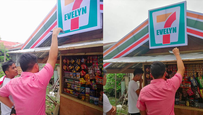 7-Evelyn Store Nag-Viral, 7-Eleven Pinatanggal ang Logo