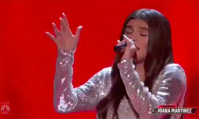 "Joana Martinez ""Impossible"" The Voice Top 10 Live Shows"
