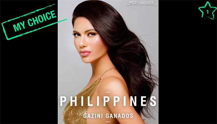 Miss Universe 2019 TOP 20 Voting Online - Gazini Ganados, Philippines