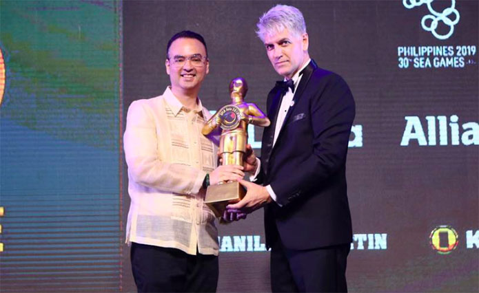 "Philippines Receives the ""Best SEA Games Organizer Award"" from SPIA Asia"