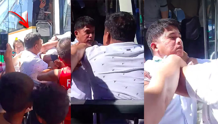 Pickup Driver vs Bus Driver in Viral Baliwag Public Market Road Rage