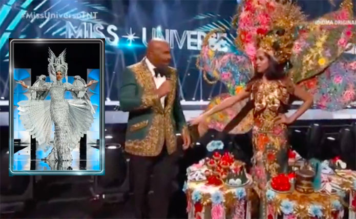 Steve Harvey Announces Wrong National Costume Winner 'Philippines' Instead of Malaysia