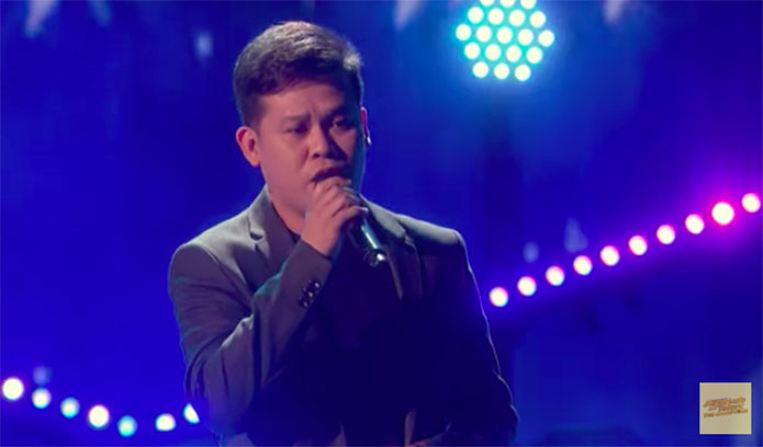 "Marcelito Pomoy Sings ""The Prayer"" on America's Got Talent: The Champions"