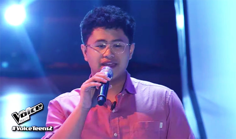 "Matt Reyes sings ""Weak"" on The Voice Teens Philippines Auditions"