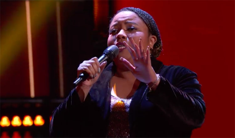 "Toneisha Harris sings ""I Want to Know What Love Is"" on The Voice Blind Auditions 2020"