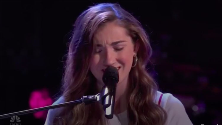 """Allegra Miles sing """"Use Somebody"""" on The Voice Blind Auditions 2020"""