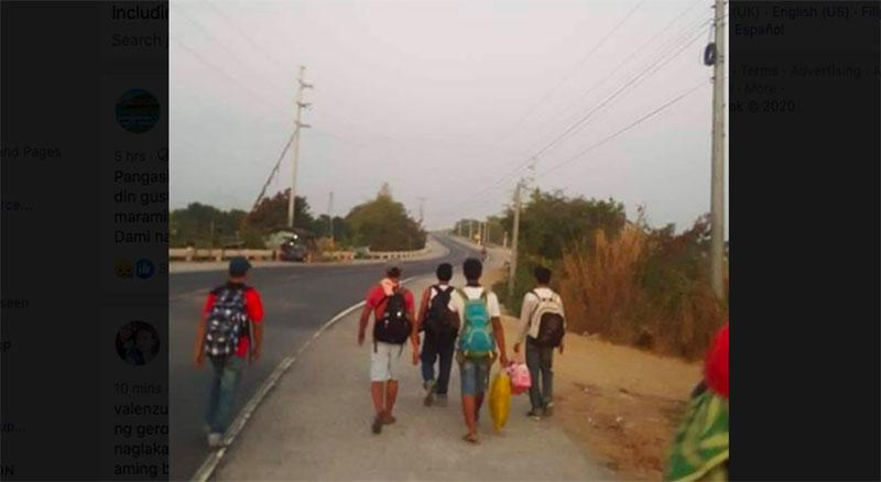 Construction Workers Naglakad Simula Maynila Pauwi ng Pangasinan Dahil sa Lockdown