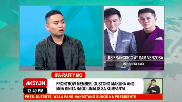 Dave Villanueva Inireklamo ang FRONTROW kay Raffy Tulfo Full Video