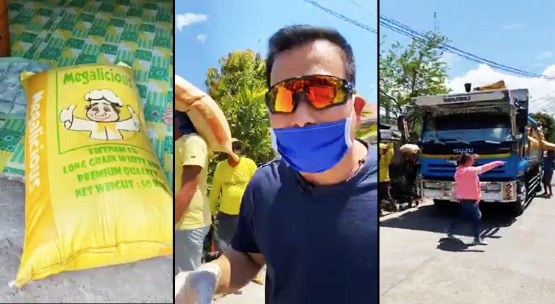 Gapan City Mayor Emeng Pascual, 1 Sakong Bigas ang Donation Bawat Pamilya