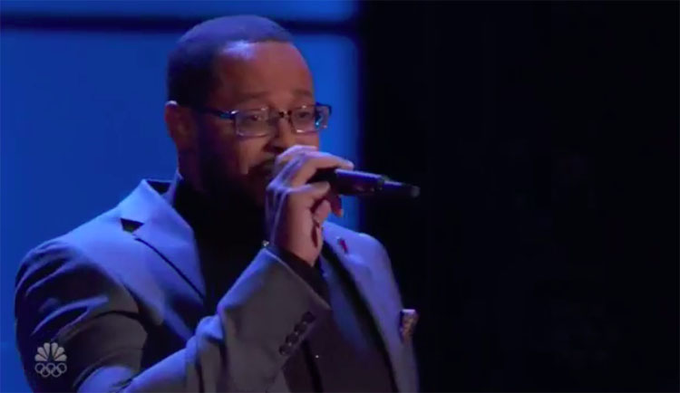 "Roderick Chambers sings ""Back At One"" on The Voice Blind Auditions 2020"
