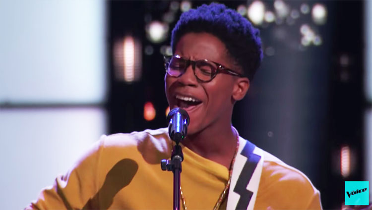 "Thunderstorm Artis sings ""Blackbird"" on The Voice Blind Auditions 2020"