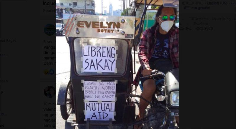 Chung Bacunin Tricycle Driver na Nagbigay ng Libreng Sakay