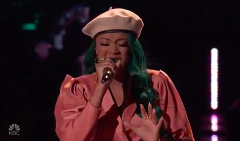 "Tayler Green sings ""Time After Time"" on The Voice Knockouts 2020"