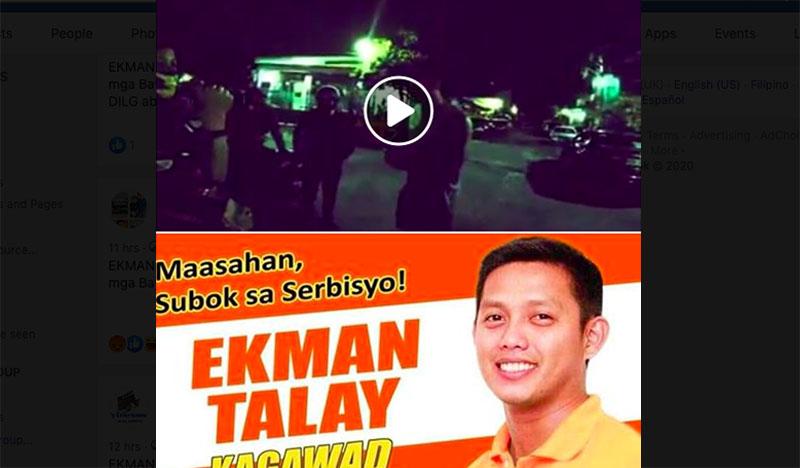 VIRAL: Kagawad Ekman Talay Nagyabang, Lasing at Ayaw Sumunod sa Curfew