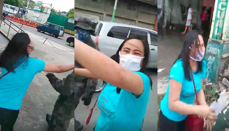 Babae Nanakit at Pinunit ang ID ng mga Check Point Officers ng Nagkaisang Nayon