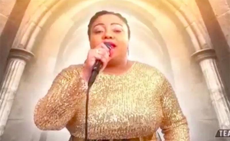 "Toneisha Harris sings ""My Superhero"" on The Voice 2020 Live Finals"