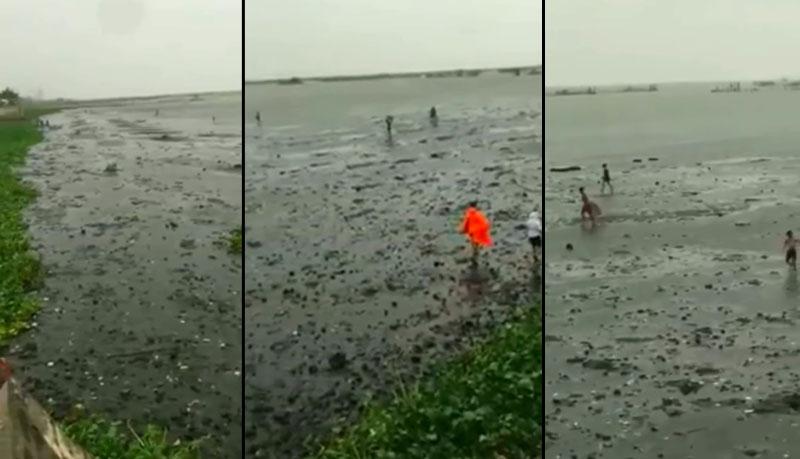 VIRAL: Laguna De Bay Umurong ang Tubig dahil kay Bagyong Ambo