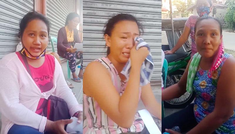 Mga Nanay napaiyak habang Inireklamo ang Kapitan dahil Pinilipi ang Binibigyan ng SAP