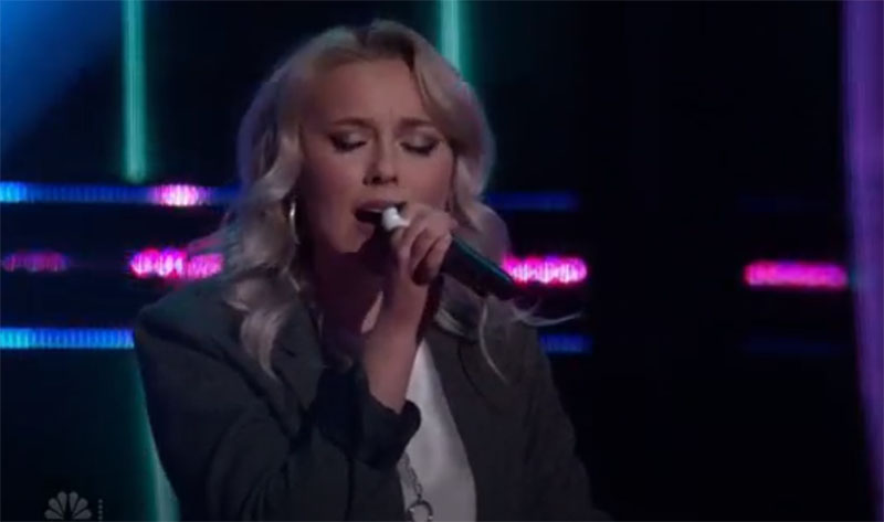 """Cami Clune sings """"Skinny Love"""" on The Voice Blind Auditions"""