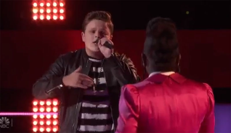 "Carter Rubin vs Larriah Jackson sings ""Like I'm Gonna Lose You"" on The Voice Battles"