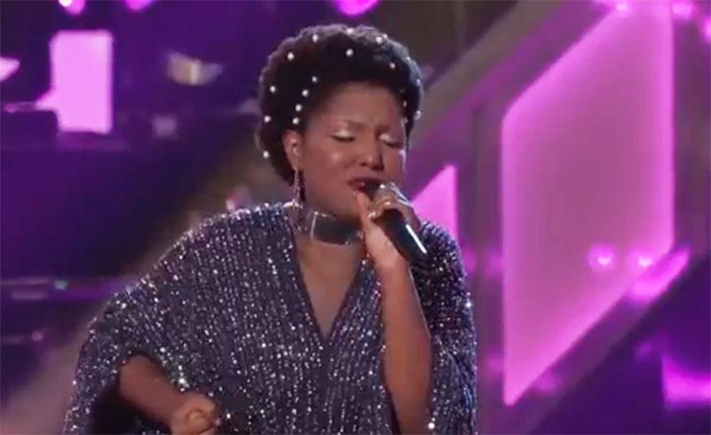 "Chloe Hogan sings ""Weak"" on The Voice Knockouts"