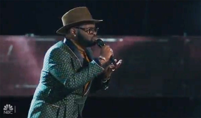 "John Holiday sings ""All By Myself"" on The Voice Knockouts"