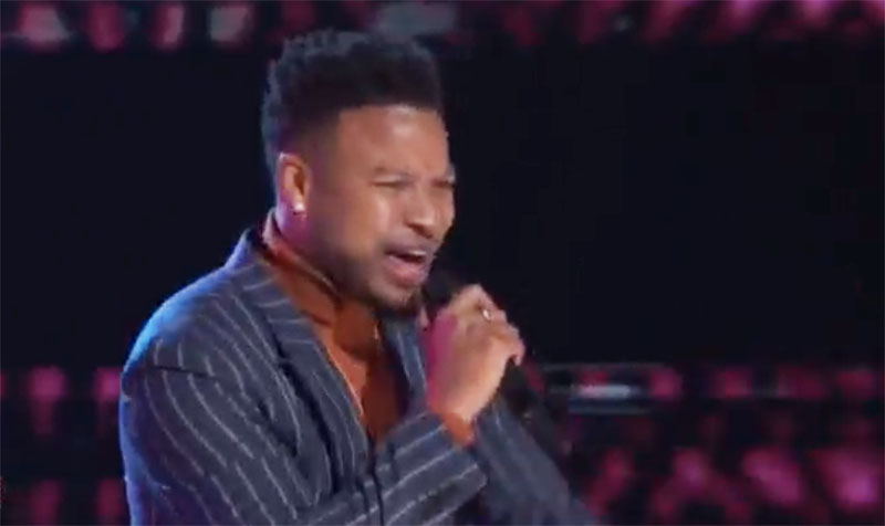 """Jus Jon sings """"Finesse"""" on The Voice Knockouts"""
