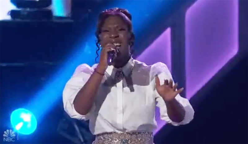 "Larriah Jackson sings ""One And Only"" on The Voice Knockouts"