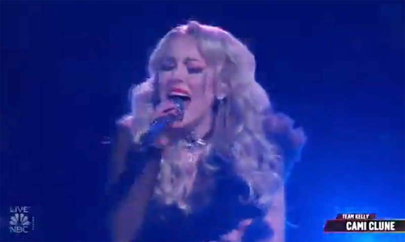 """Cami Clune sings """"Never Tear Us Apart"""" on The Voice Live Playoffs"""