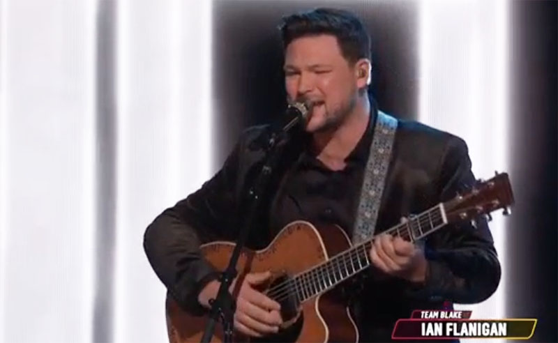 """Ian Flanigan sings """"Angel"""" on The Voice Top 9 Live Semifinals"""