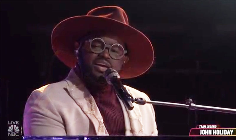 """John Holiday sings """"Fix You"""" The Voice Top 9 Live Semifinals"""
