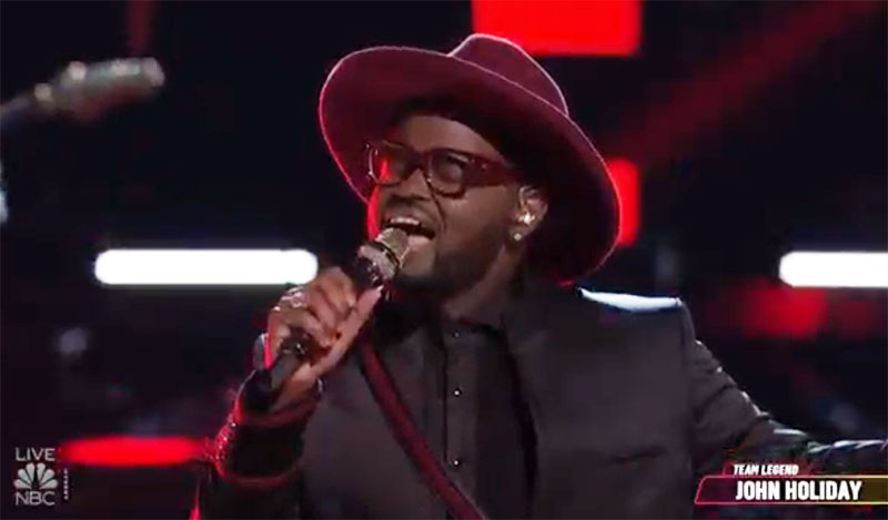 """John Holiday sings Original Song """"Where Do We Go"""" on The Voice Top 5 Live Finale"""