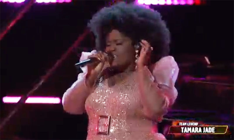 "Tamara Jade sings ""Crazy"" on The Voice Live Playoffs"