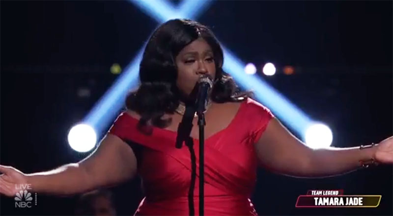 """Tamara Jade sings """"Let It Be"""" on The Voice Top 9 Live Semifinals"""