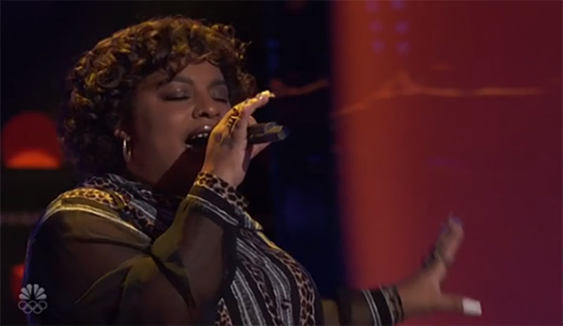 """Christine Cain sings """"Watermelon Sugar"""" on The Voice Season 20 Blind Auditions"""