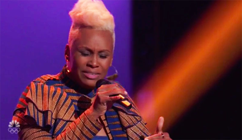 """Pia Renee sings """"Master Blaster"""" on The Voice Season 20 Blind Auditions"""