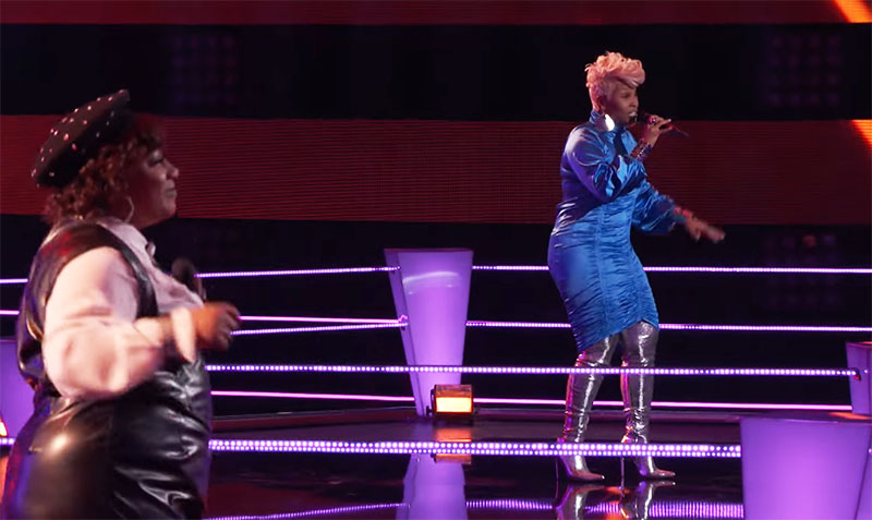 "Pia Renee vs Christine Cain sings ""Baby"" on The Voice Season 20 Battles"