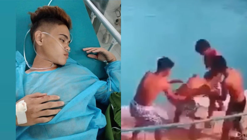 VIRAL: Young Man Nearly Dies After Pool Prank
