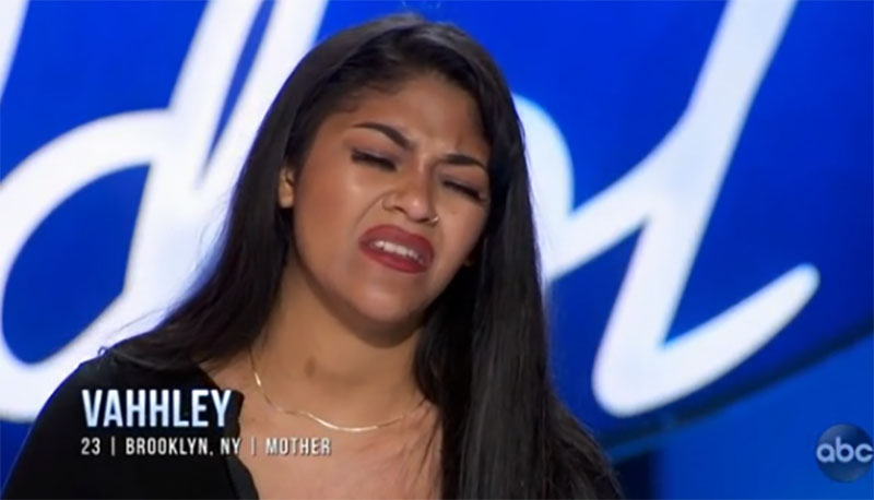 """Vahhley sings """"One Moment In Time"""" on American Idol 2021 Auditions"""