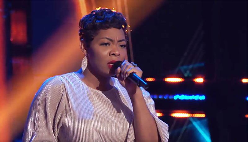 "Zania Alake sings ""Sweet Love"" on The Voice Season 20 Blind Auditions"