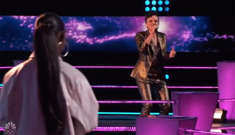 """Halley Greg vs Gihanna Zoe sings """"Thinking Out Loud"""" on The Voice Season 20 Battles"""