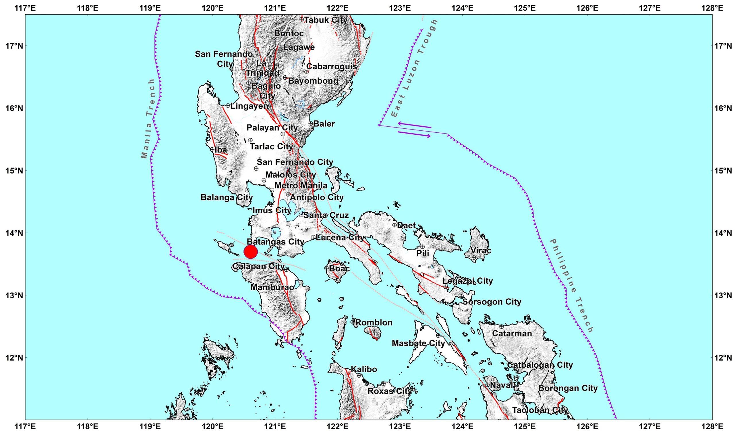 Magnitude 6.7 Earthquake Hits Batangas, Philippines